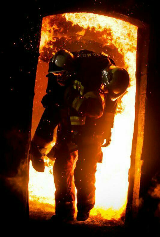 firefighter carrying